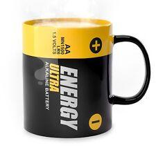 Balvi ENERGY MUG Battery Shaped Tea Coffee CERAMIC 300ml MUG
