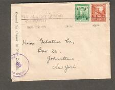 New Zealand 1942 WWII passed 66 censor cover Oamaru to USA/Rate Tolls Available