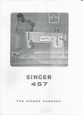 Singer Sewing Machine Manual (photocopy) Model 457, sent via email
