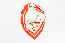 """Hermes Red Cream Silk Horse Toy Print """"Raconte-moi Le Cheval"""" 90cm Square Scarf"""