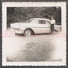 Vintage Car Photo Woman w/ 1956 Chevrolet 210 Chevy Automobile 672306