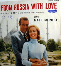 "OST FROM RUSSIA WITH LOVE 7"" ITALY 64 -CONNERY AGENTE 007 -MAT MONROE  PARLOPHON"