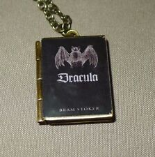 Bram Stoker's Dracula BAT book charm LOCKET necklace, Vampire, Gothic