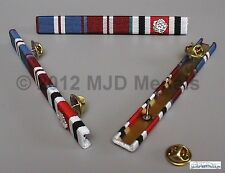 GOLDEN JUB + DIAMOND JUBILEE + SPECIAL CONSTABULARY L SERV + rosette MEDAL BAR