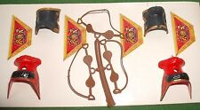 VINTAGE BRITAINS EYES RIGHT,Mounted GUARDS saddles, stirrups,drum decals in vgc
