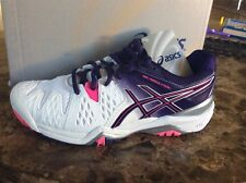 2016 Asics Gel-Resolution 6 Womens Tennis Shoe White Parachute Purple Hot Pink 8