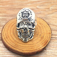 Jewelry Men's 316l stainless steel Fashion Punk design Skull ring US size11 Z22