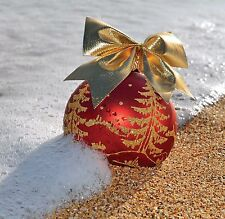 6 x Christmas Cards Pack Bauble on the Beach - winter seaside coast FREE Post!
