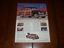 1949 FORD WOODY WAGON FRANKLIN MINT  ***ORIGINAL 1995 AD***