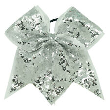 8 Inch Full Sequin Bling Cheer Hair Bow with  Elastic Band Cheerleading CB005
