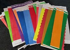 "100  3/4""  RANDOM ASSORTED TYVEK WRISTBANDS, PAPER WRISTBANDS, EVENT WRISTBANDS"