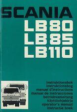 1974 SCANIA LB80 LB85 LB110 BETRIEBSANLEITUNG HANDBUCH OWNER'S MANUAL DEUTSCH
