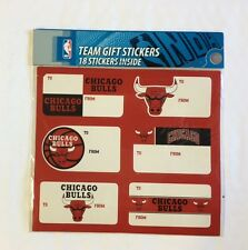 Chicago Bulls Christmas Present Name Labels - Team Gift Stickers - To/From NBA