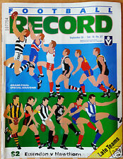 VFL Football Record 1985 GRAND FINAL Premiers ESSENDON BOMBERS Match Day Edition