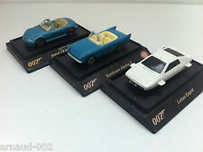 Shell - 3 voitures James Bond 007  BMW Z3 Roadster Sunbeam Alpine 5 Lotus Esprit