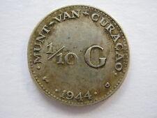 Netherlands Curacao 1/10 Gulden 1944
