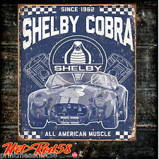 Metal Tin Wall Signs Classic Ford Shelby Mustang Cobra Car Garage Advertising