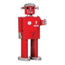 ENESCO SAINT JOHN - GIANT ATOMIC ROBOT RED - MECHANICAL WIND UP TIN TOY - NEW