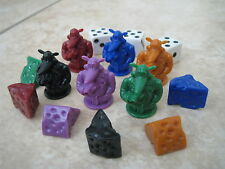 Cashflow 101 Game Replacement Pieces Rich Poor Day  6 Rats 6 Cheese 3 Dice