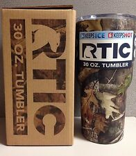 RTIC Camo 30oz. Tumbler Cup Shatterproof Lid Cold Hot Drinks Beverages Trav