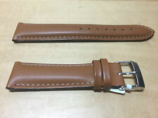 New - Brown Leather Strap 20 mm - Correa Piel Marrón 20 mm - Nueva