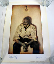 STEPHEN KING & PHIL HALE DUAL SIGNED AUTOGRAPH INSOMNIA ART PRINT
