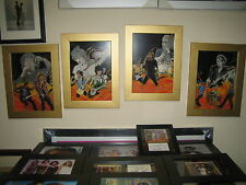 REDUCED 25% Rolling Stones Ronnie Wood 4 Stunning Framed Pictures Famous Flames