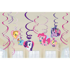 12 My Little Pony Friendship Birthday Party Hanging Swirl Decorations