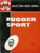 RUGGER SPORT - WELSH RUGBY MAG, MAR 1961, SPRINGBOKS IN WALES, LLANELLI & WALES