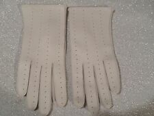 Vintage White Vinyl Gloves Made in Japan one size