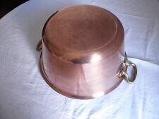 Große schwere dickwandige alte Kupferschüssel, Patisserieschüssel (13)