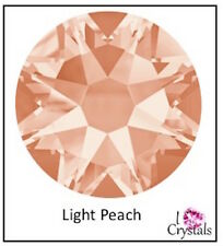 LIGHT PEACH 6 pieces 30ss 6.5mm Swarovski Crystal Flatback Rhinestones 2058