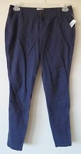 Old Navy Womens Sz 4 Regular Navy Sweetheart Pants Cotton Stretch New