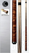 New Lucasi Custom LZSP2 Pool Cue Stick -Walnut Stain Tiger Strip 18-21 oz