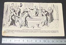 CPA 1904 HUMOURISTIQUE ANTICLERICALISME UNE PARTIE DE CARAMBOLAGE BILLARD CURES