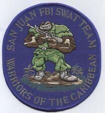SAN JUAN P.R. POLICIA FBI EQUIPO SWAT TEAM WARRIOS OF THE CARIBEAN POLICE