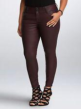 Torrid Premium Faux Leather Jegging Oxblood Plum Short Pants Plus 16W 16 #175