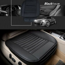 1× Car Seat Soft Pad Black Cushion Protect Mat Cover Bamboo Charcoal PU Leather