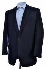 DAVIES & SON Savile Row Solid Blue CASHMERE Sport Coat Jacket Mens BESPOKE 42 L