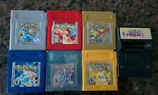 Pokemon Blue+Red+Crystal+Yellow+Gold+Silver+Pinball Gameboy Lot - *USED*