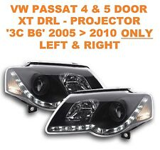 VW Passat Saloon & Estate DRL XT-R Black Projector Headlights B6 05   10 ONLY