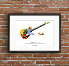 Jimmy Page's 1959 Fender Telecaster ART POSTER A3 size