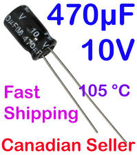 2pcs 470uF 10V 6.3x11 mm 105C  POLARIZED NIC COMPONENTS For LCD TFT TV AUDIO DVD