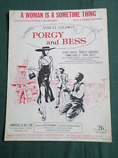 """PORGY AND BESS  - SHEET MUSIC FOR THE SONG  -""""  A WOMAN IS A SOMETIME THING"""""""