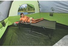 "Camping Cot w/ Removable Side Table Extra Wide Long Up To 6'8"" Furniture Hiking"