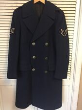 Vintage 1949 USAF Double Breasted Wool Trench Coat Made In USA Men's 35 L