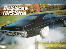 "1968 Chevy Impala SS427 Article ""Resscue Mission"" SS 427"