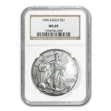 1996 Silver American Eagle Coin - MS-69 NGC - SKU #6907