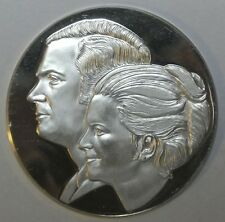 1976 CARL XVI. GUSTAF & SILVIA .9999 SILVER MEDAL Commemorating Wedding