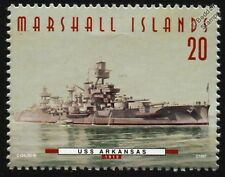 USS ARKANSAS (BB-33) Wyoming Class Battleship Warship Stamp (1997)